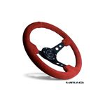 Red Leather w/ Black Stitching (3 Deep) ST-006RR-4