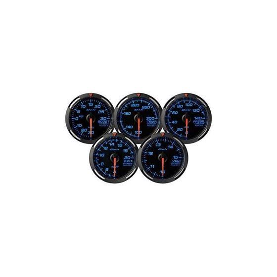 Red Racer Series 52mm Gauges, US Measurements de-2