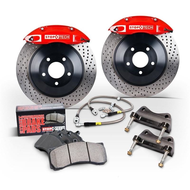 06-12 VW GTI Front BBK w/Red ST-41 Calipers 328x25