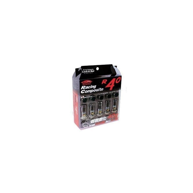 Project Kics 12X1.25 Black R40 Lug Nuts - 16+4 by