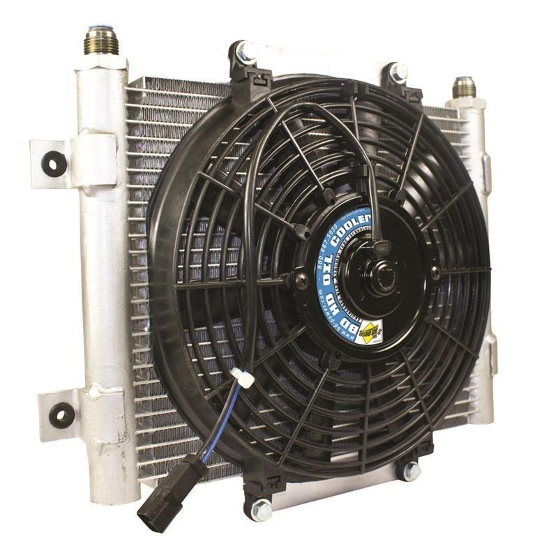 BD Diesel Xtrude Trans Cooler w/Fan 5.5in by JM Au